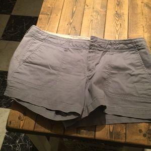 Low rise size 12 shorts gray blue color